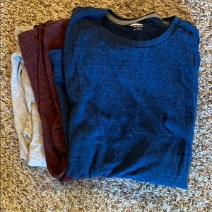Set of Men's Old Navy Soft-Washed Long Sleeve Tees